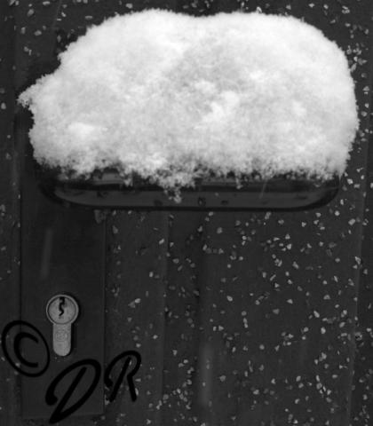 Schnee, Tür